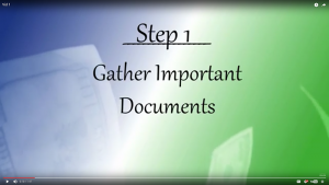 Your Journey - Step 1: Gather Important Documents