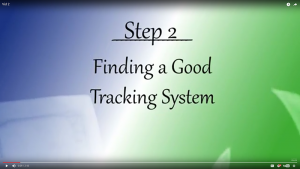 Your Journey - Step 2: Finding a Good Tracking System
