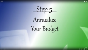 Your Journey - Step 5: Annualize Your Budget